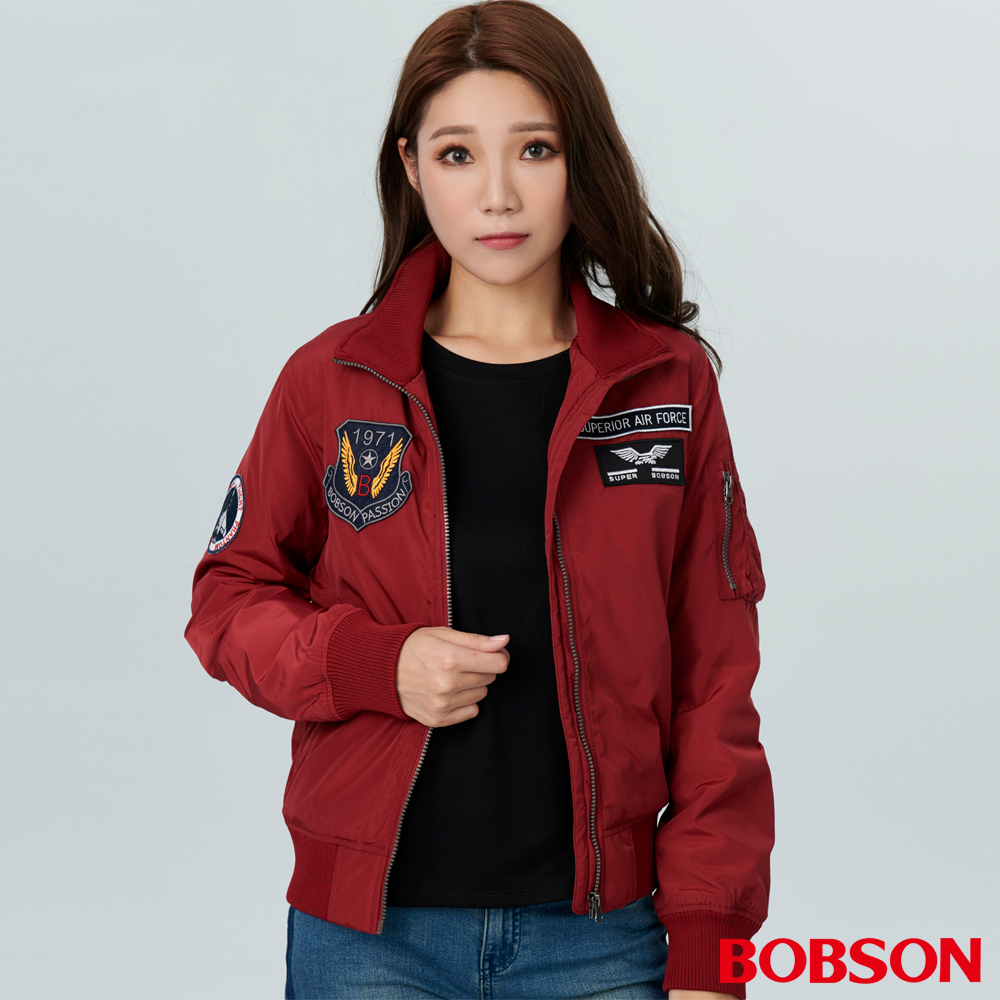 BOBSON 女款立領鋪棉外套 (38104-16)
