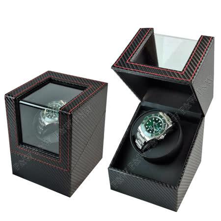 【手錶自動上鍊盒】大錶專用 1支裝 【碳纖維紋】 動力儲存盒 機械錶專用 搖錶器 旋轉盒 錶盒