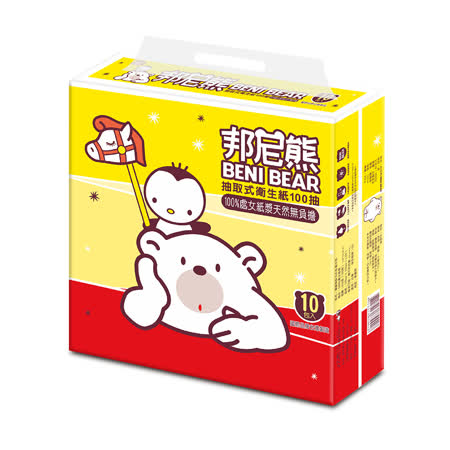 BeniBear邦尼熊衛生紙100抽10包6袋/箱