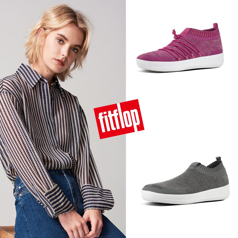 【FitFlop】UBERKNIT SLIP-ON系列 完整包覆腳型襪套式休閒鞋-女 共4款
