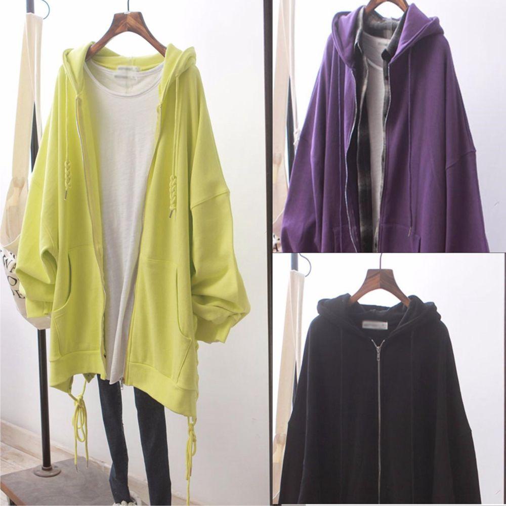 【韓系女衫】M~2XL純色進帽麻花邊綿外套-3色