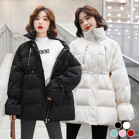 KISSDIAMOND 韓系 中長版羽絨棉外套(兩款任選)