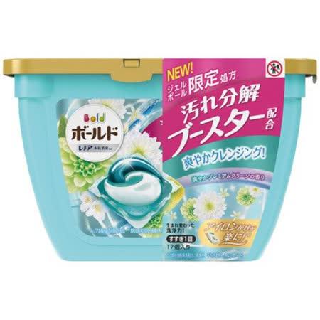 買一送一【P&G】 3D洗衣球淺藍白葉17顆