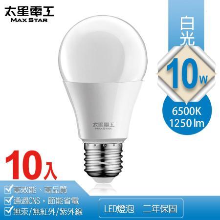太星電工10WLED燈泡10入