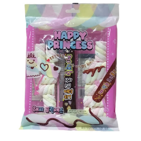 HAPPY PRINCESS 棉花糖&巧克力風味條4包