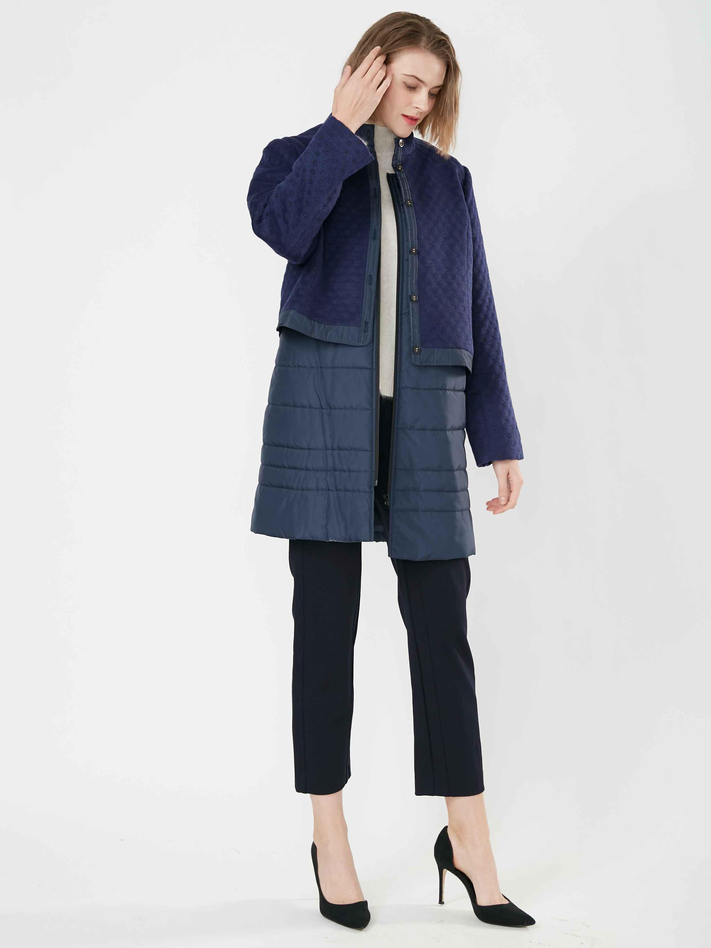 JIONE 時尚俏麗波爾卡圓點提花兩件式外套