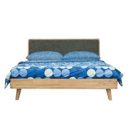 AT HOME 絲帕原實木圓角雙人床