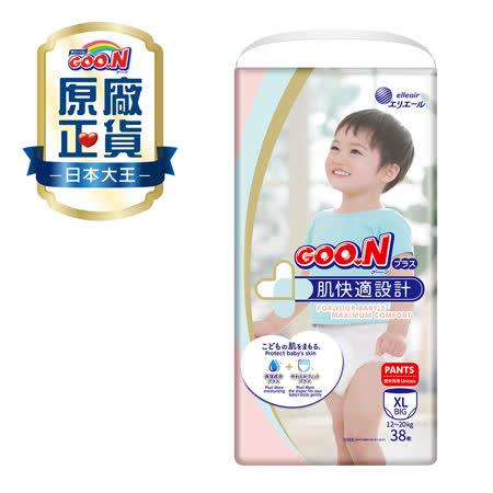 《GOO.N》日本大王境內版肌快適褲型紙尿布(XL/38片*3串)