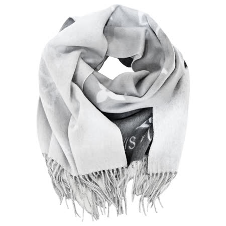 Louis Vuitton 山羊絨漸層流蘇圍巾