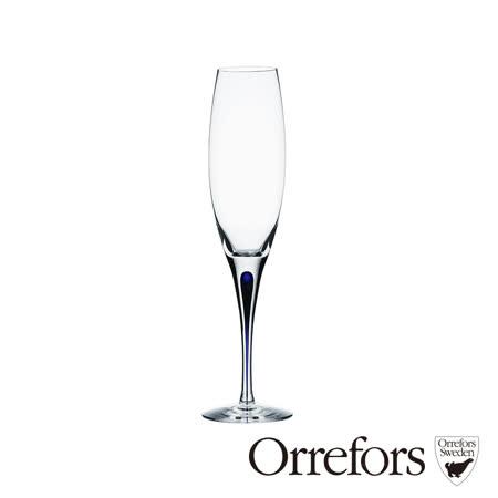 瑞典Orrefors 藍色之舞香檳杯260ml