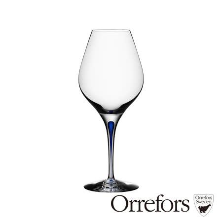 瑞典Orrefors 藍色之舞紅酒杯620ml