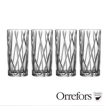 瑞典Orrefors 城市果汁杯350ml(4入)