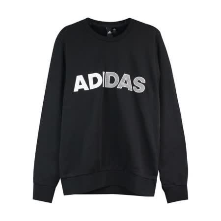 Adidas 男 圓領長T