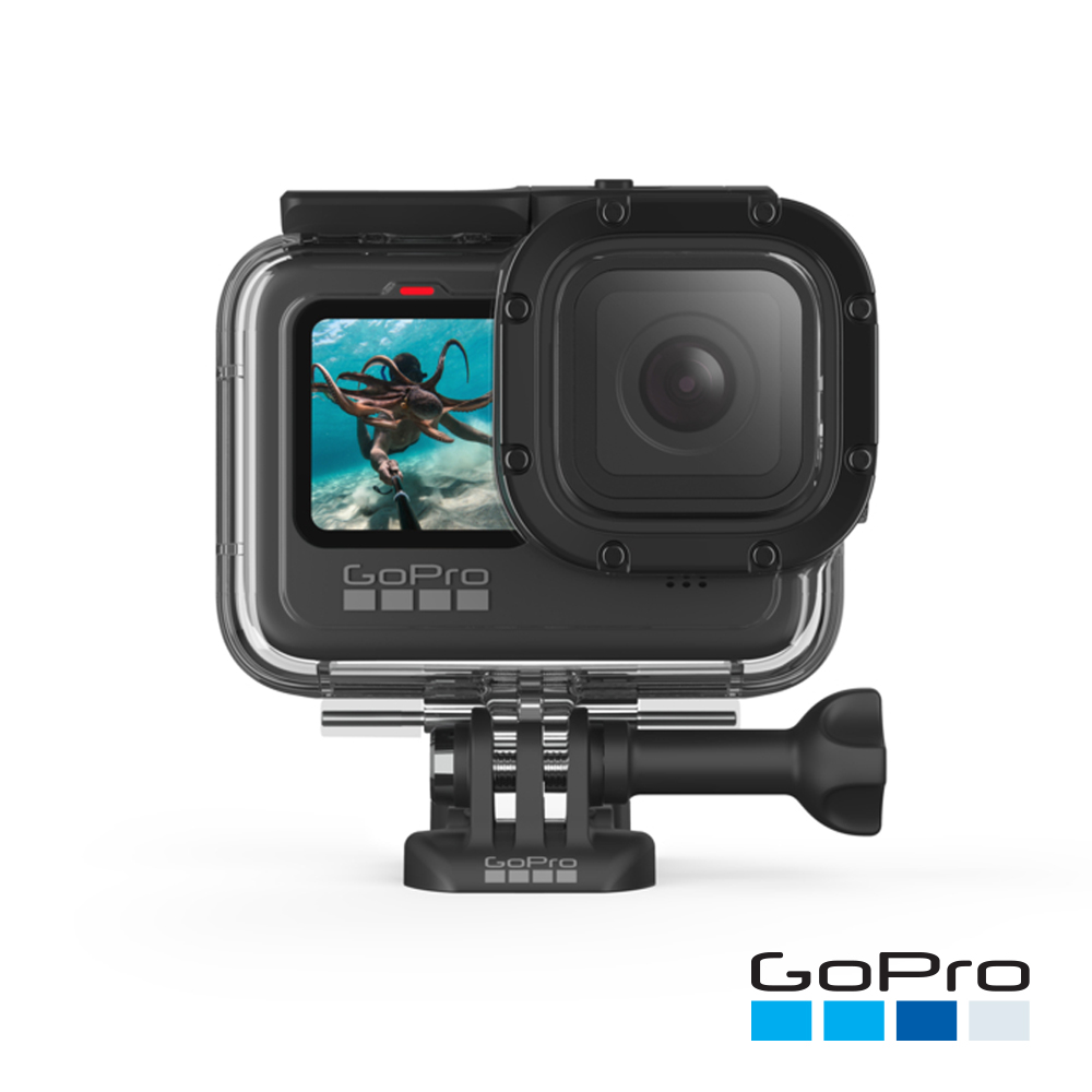 【GoPro】HERO9 Black專用超強防護層+潛水保護殼ADDIV-001 (忠欣公司貨)