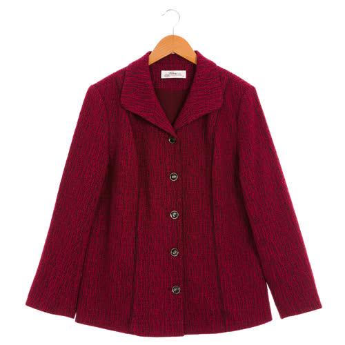 盈樺 簡約俐落提花織紋腰身修飾外套