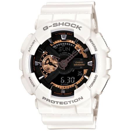 CASIO  G-SHOCK  重機潮流雙顯運動錶
