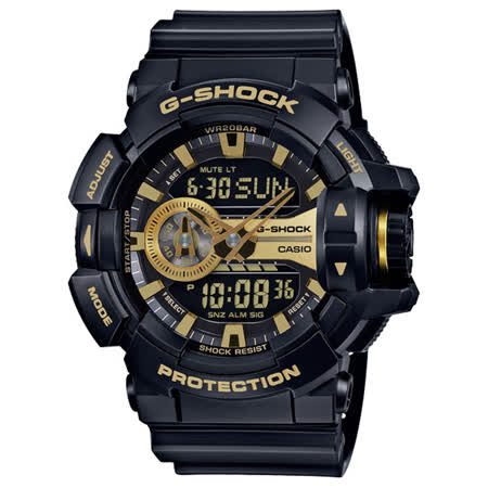 CASIO G-SHOCK  黑金潮流運動錶