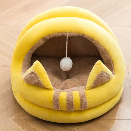 貓耳蛋塔造型寵物睡窩