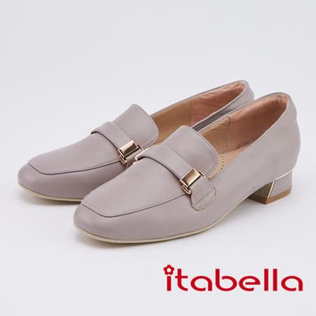 itabella 復古潮流  氣質羊皮百搭包鞋