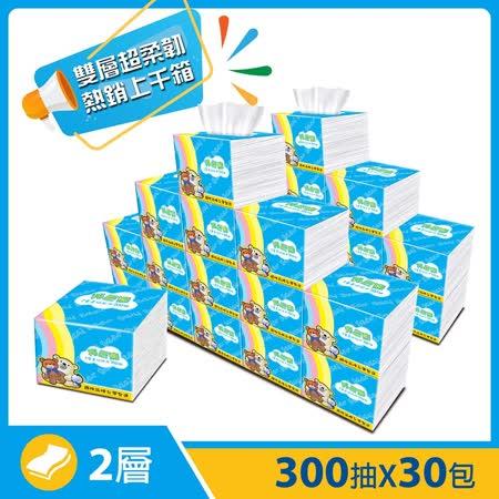 邦尼熊柔拭紙巾300抽x30包/2箱-彩虹版