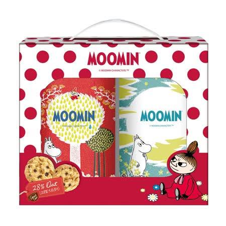【嚕嚕米】餅乾罐二入禮盒300g / 2盒