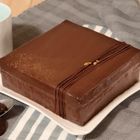 艾波索 巧克力黑金磚方形6吋