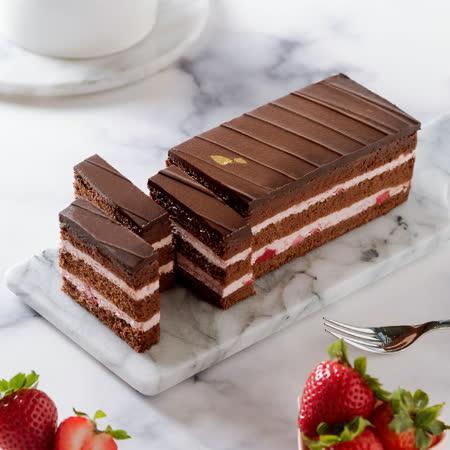 艾波索 草莓黑金磚18cm