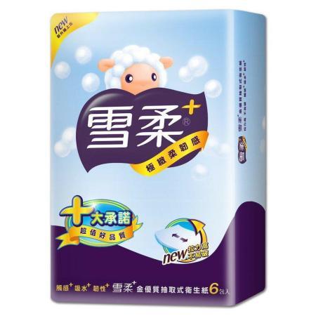 【雪柔】金優質 衛生紙90抽x6包/串