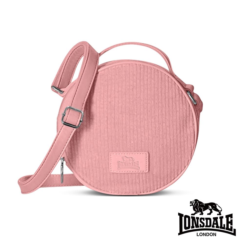 LONSDALE 英國小獅-燈芯絨手提/側背圓形包-粉紅 LD1348