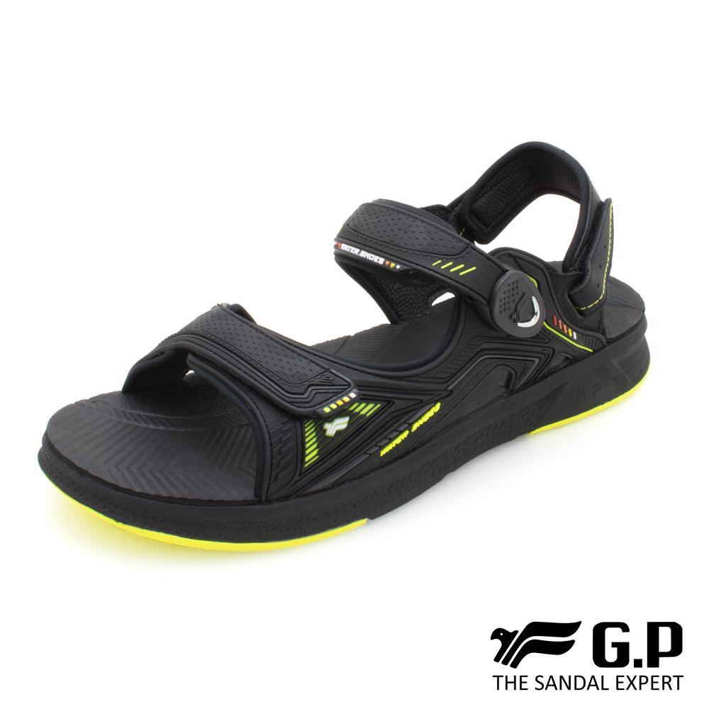【G.P 輕羽量漂浮磁扣兩用涼拖鞋】G0785M 綠色 (SIZE:39-44 共三色)
