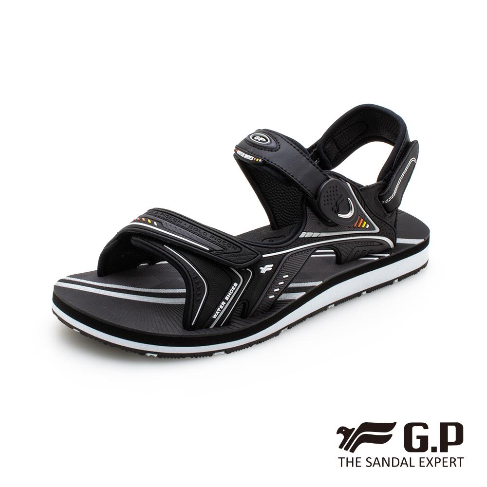 【G.P 男款簡約磁扣兩用涼拖鞋】G0792M-黑色 (SIZE:40-44 共三色)