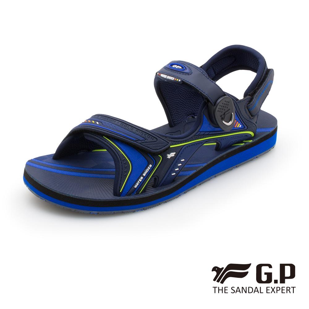 【G.P 男款簡約磁扣兩用涼拖鞋】G0792M-藍色 (SIZE:40-44 共三色)