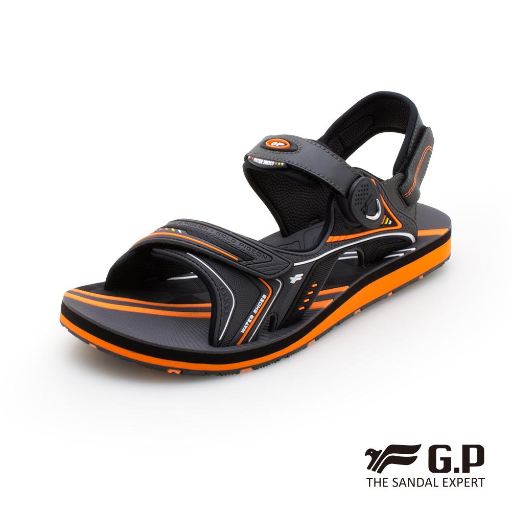 【G.P 男款簡約磁扣兩用涼拖鞋】G0792M-橘色 (SIZE:40-44 共三色)