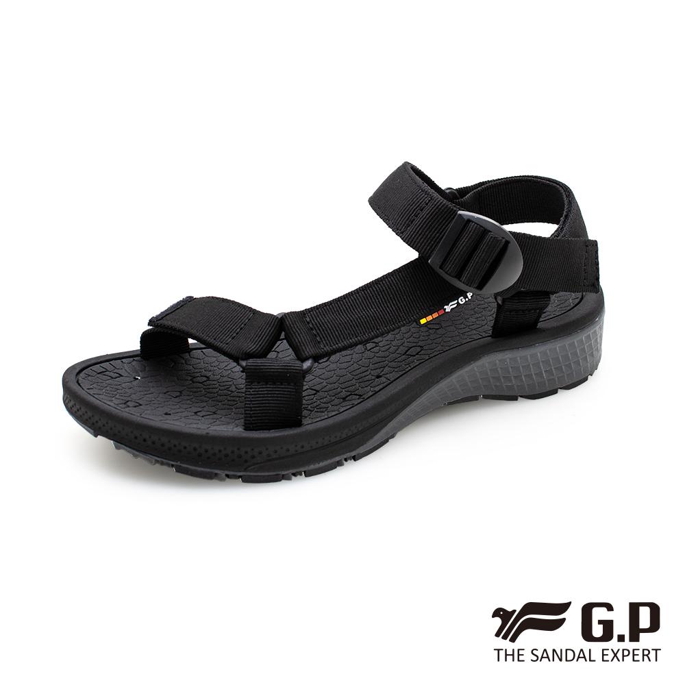 【G.P 舒適機能織帶涼鞋】G0799M 黑色 (SIZE:39-44 共二色)