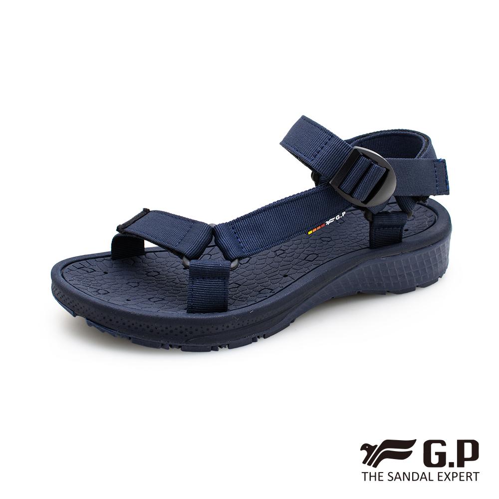 【G.P 舒適機能織帶涼鞋】G0799M 藍色 (SIZE:39-44 共二色)