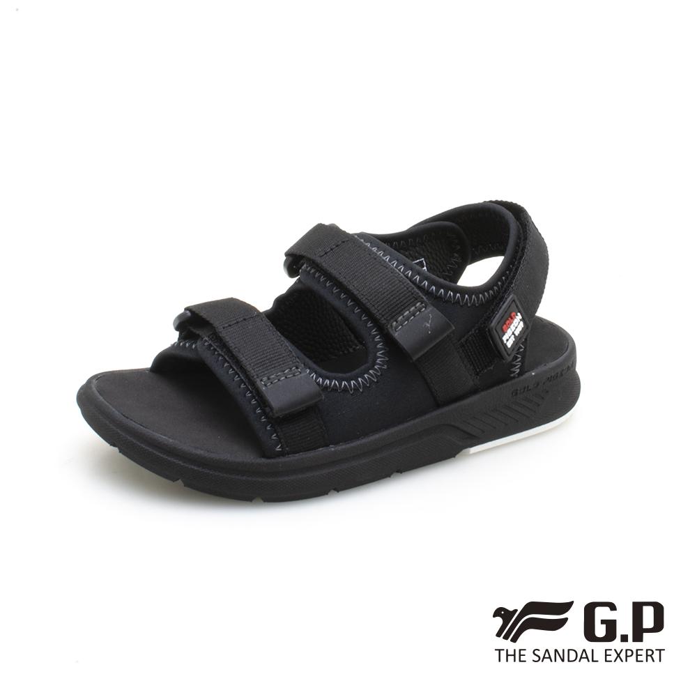 【G.P 兒童簡約綿綿鞋】G0722B-黑色(SIZE:28-32 共二色)