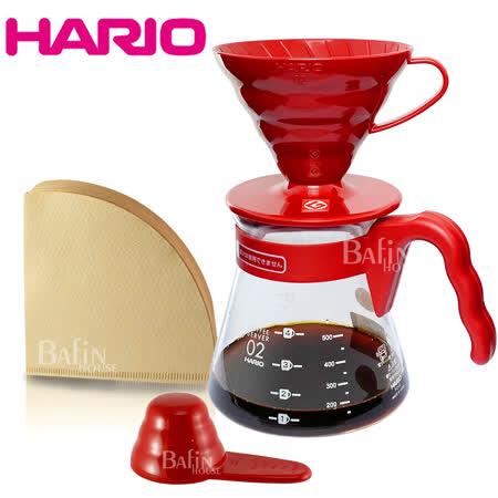 HARIO喜氣紅 濾泡咖啡禮盒組