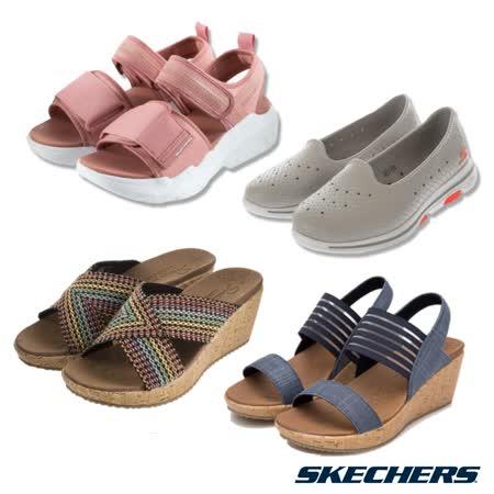 SKECHERS 女 時尚休閒涼拖鞋