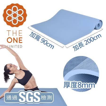 【The One】TPE 加長加寬瑜珈墊8mm