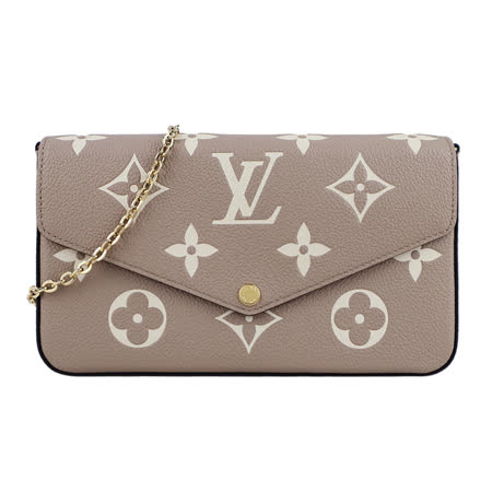 Louis Vuitton  牛皮壓紋鍊帶斜背包
