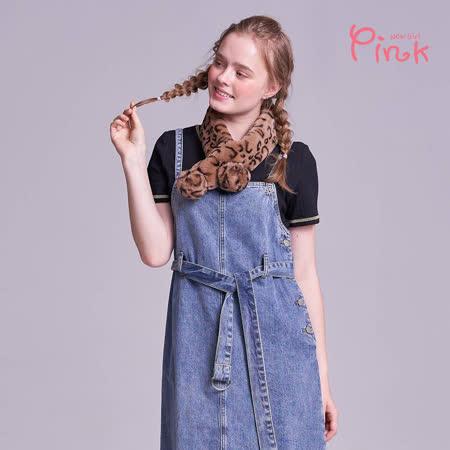 Pink* 百搭V領彈力坑條上衣