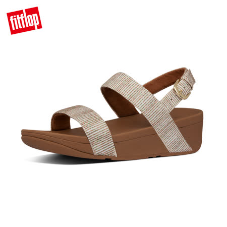 【FitFlop】LOTTIE GLITTER-STRIPE BACK-STRAP SANDALS金屬光澤後帶涼鞋-女 沙金色