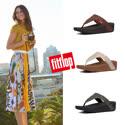 【FitFlop】LOTTIE GLITTER-STRIPE TOE-THONGS金屬光澤夾腳涼鞋-女(共3色)