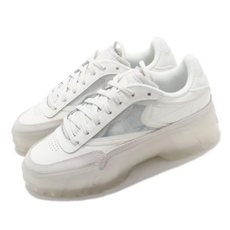 Reebok 女款厚底小白休閒鞋