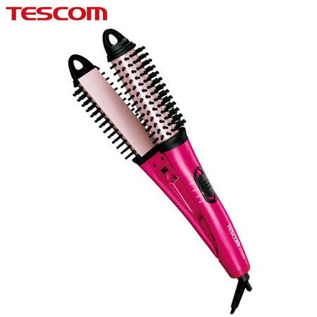 TESCOM負離子 直/捲2用整髮梳