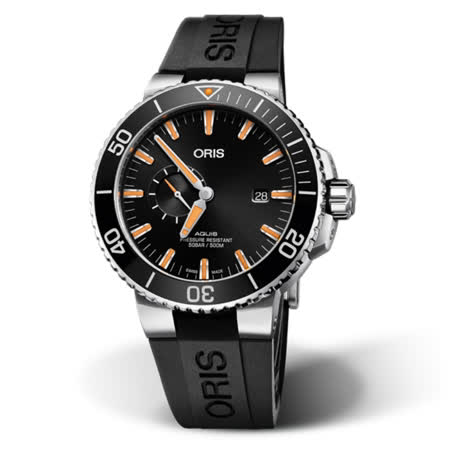 ORIS豪利時 小秒盤日期潛水腕錶