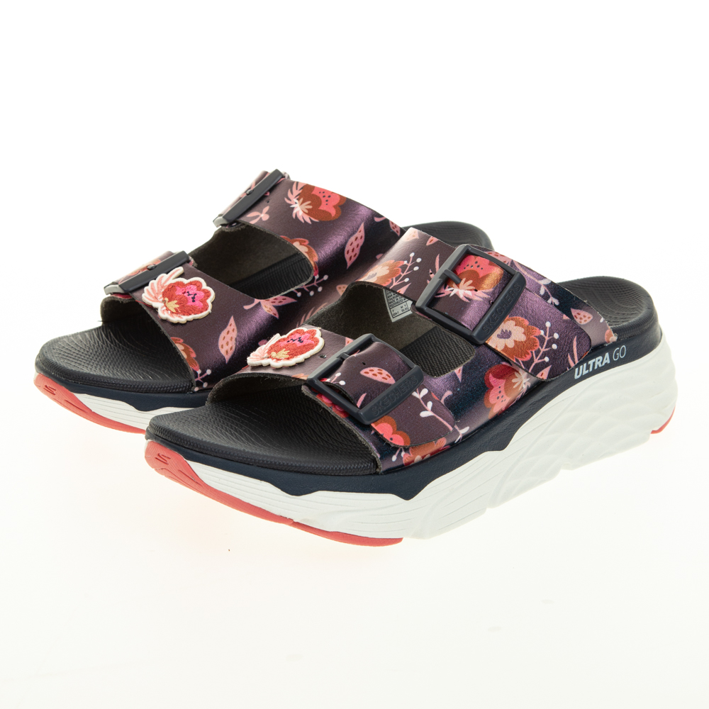 SKECHERS 女 健走系列涼拖鞋 MAX CUSHIONING SANDAL-140119NVMT