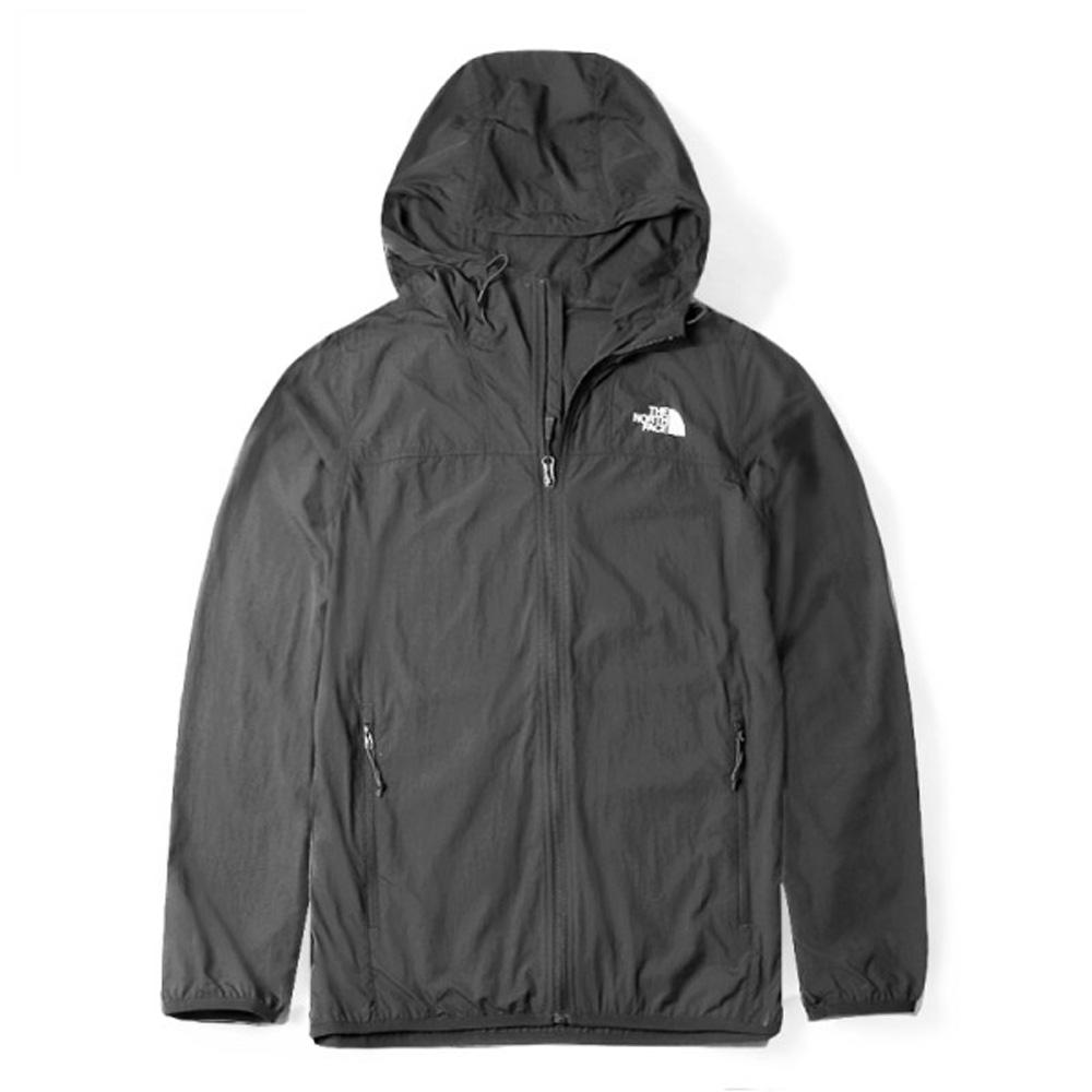 【美國 The North Face】男新款 可調式輕薄防曬透氣排汗連帽外套(亞洲版型)/4U8X-0C5 瀝灰 N