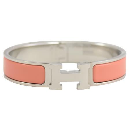 HERMES H LOGO琺瑯扣式手環