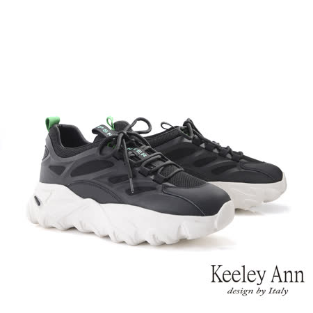 Keeley Ann 韓版拼接厚底老爹鞋